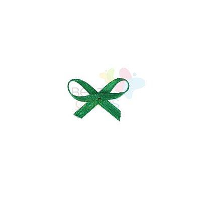 Mini Lacinho de Cetim Mosquitinho Verde Bandeira - 100 unidades