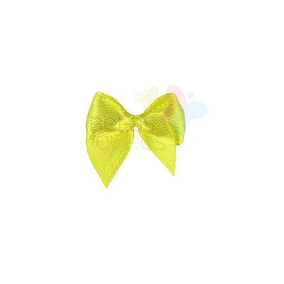 Mini Lacinho de Cetim Amarelo - 50 unidades