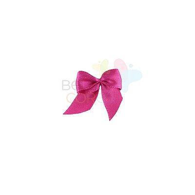 Mini Lacinho de Cetim Pink - 50 unidades