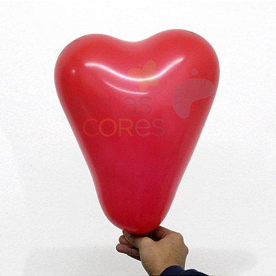 Balão/Bexiga Vermelho Paixão Formato Coração Nº 11 - 12 unidades