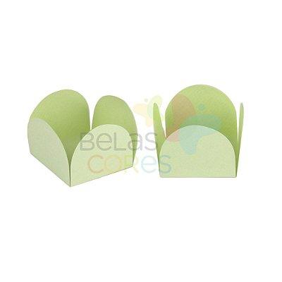 Forminha para Docinho Caixeta Verde Bebê Fosco Detalhado - Kit 25 unidades