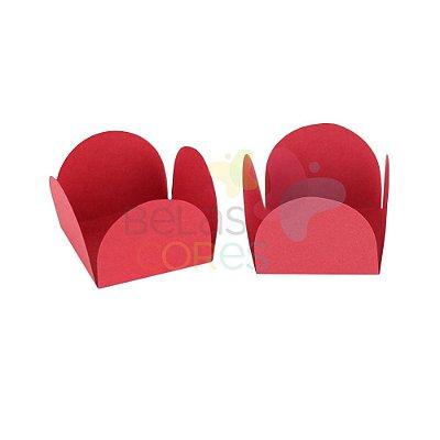 Forminha para Docinho Caixeta Vermelha Fosca Lisa  - Kit 25 unidades
