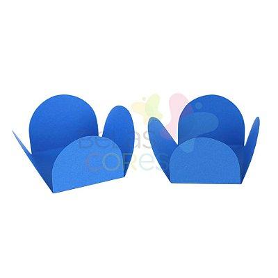 Forminha para Docinho Caixeta Azul Fosca Lisa  - Kit 25 unidades