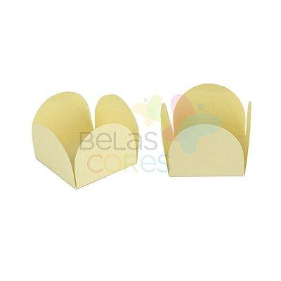 Forminha para Docinho Caixeta Creme Brilhosa - Kit 25 unidades