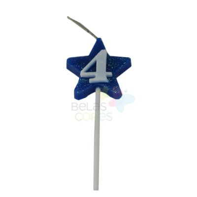 Velas de Aniversário Estrela - Numero 4