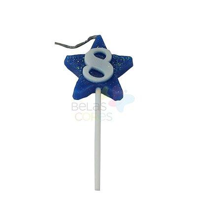 Velas de Aniversário Estrela - Numero 8