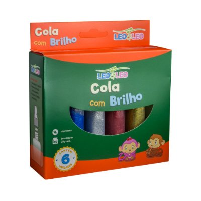 Cola Colorida 6 Cores Com Brilho 25 Gr - Leo&leo