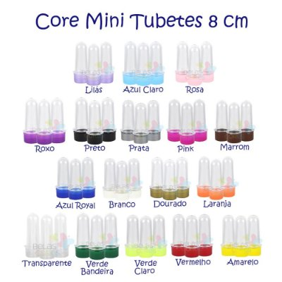Mini Tubetes 8cm para Personalizar - Kit c/ 10 unidades
