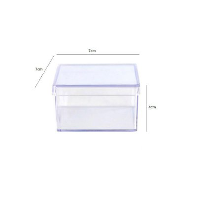 48 Caixinhas Acrílicas 7x7 x4 - Cristal/Transparente