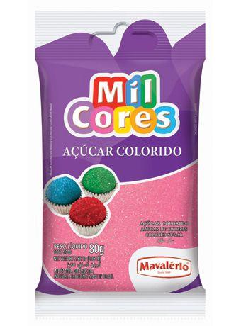 Açúcar Colorido Rosa Mil Cores 80gr