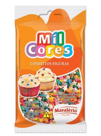 Confeito Estrelinha Mil Cores 50gr