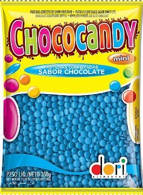 Chococandy Mini  Pastilhas Confeitadas Azul Sabor Chocolate Dori
