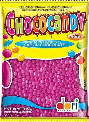 Chococandy Mini  Pastilhas Confeitadas Rosa Sabor Chocolate Dori