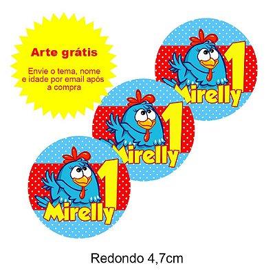 Adesivo Personalizado para Lembrancinha Redondo 4,7cm