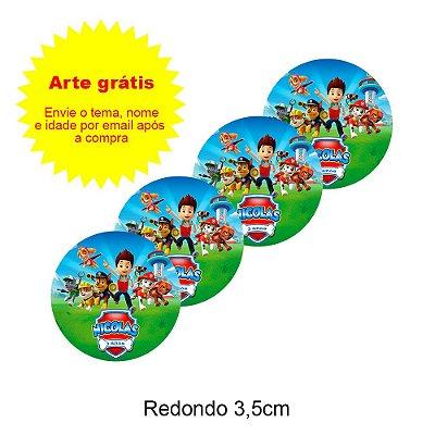 Adesivo Personalizado para Lembrancinha Redondo 3,5cm
