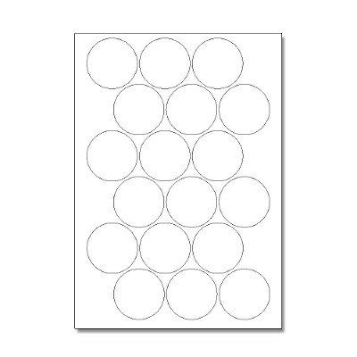 Etiquetas / Adesivos Fotográficos Brilhosa / Redondo 5cm - 10 Folhas (180 Adesivos)