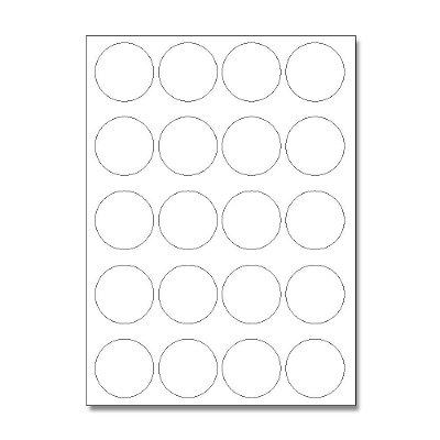 Etiquetas / Adesivos Fotográficos Brilhosa / Redondo 4,7cm - 10 Folhas (200 Adesivos)