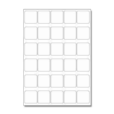 Etiquetas / Adesivos Fotográficos Brilhosa / Quadrado 3,7cm - 10 Folhas (300 Adesivos)