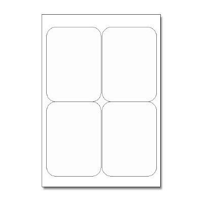 Etiquetas / Adesivos Fotográficos Brilhosa / Retangular 12,5x9,5cm - 10 Folhas (40 Adesivos)