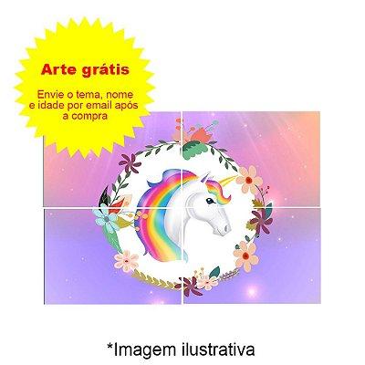 Painel de Festa Decorativo Personalizado 86x60cm - 1 Unidade