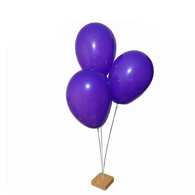 Suporte para Balão Mini 3 Hastes Suporte de mesa