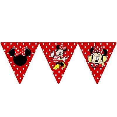 Bandeirola Minnie Vermelha Triangular