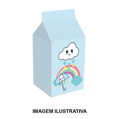 5 Caixinhas Milk Chuva de Amor Menino Para Lembrancinha