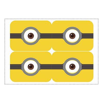 12 Adesivos Minions para Marmitinha 240ml - 9x12,5cm