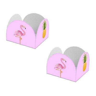 20 Forminhas de Doces Caixeta Flamingo Abacaxi