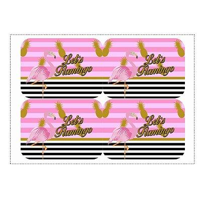 12 Adesivos Flamingo Abacaxi Marmitinha 240ml