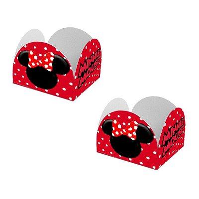 20 Forminhas de Doces Caixeta Minnie Vermelha