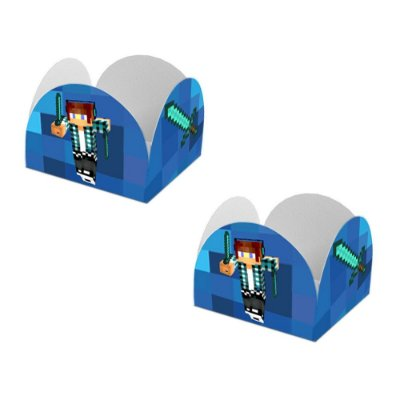 20 Forminhas de Doces Caixeta Authentic Games Minecraft