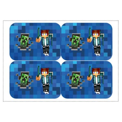 12 Adesivos Authentic Games Minecraft para Marmitinha 240ml