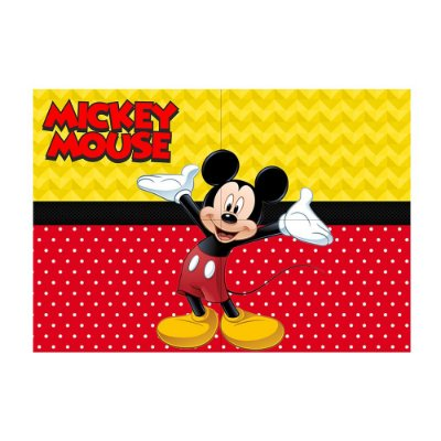 Painel de Festa Decorativo Mickey - 1 Unidade
