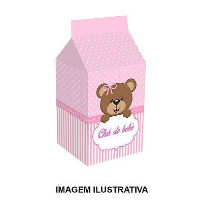 5 Caixinhas Milk Chá de Bebê Rosa Para Lembrancinha