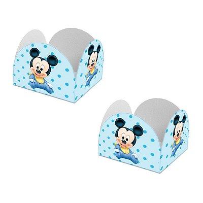 20 Forminhas de Doces Caixeta Mickey Baby