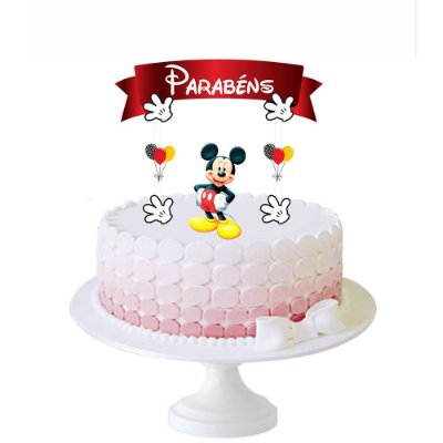 Topo de Bolo Mickey - 1 Unidade