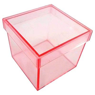 10 Caixinhas Acrílicas 4x4 - Rosa