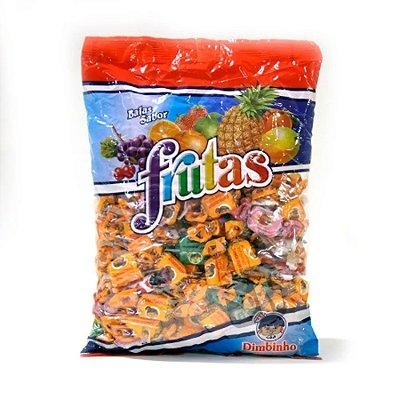 Bala Mastigável Frutas Sortidas Dimbinho - 600g
