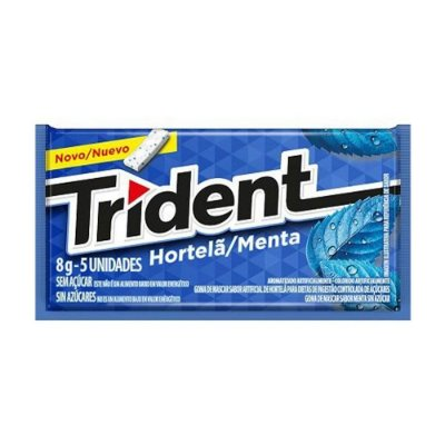 Chiclete Trident Hortelã - 1 Unidade