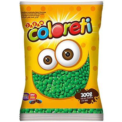 Confeito de Chocolate Coloreti Verde 300g