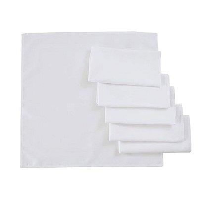Guardanapo de Tecido Branco 35 X 35 cm - 10 Unidades