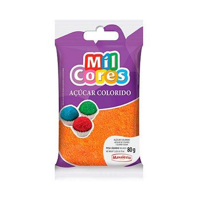 Açúcar Colorido Laranja Mil Cores 80gr