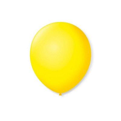 """Balão Bexiga Lisa Amarelo 6,5"""" 15cm - 20 Unidades"""