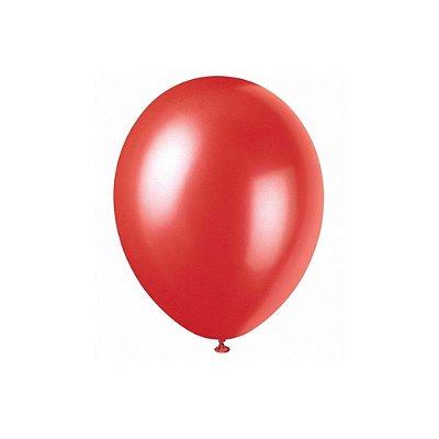 """Balão Bexiga Lisa Vermelho 6,5"""" 15cm - 20 Unidades"""
