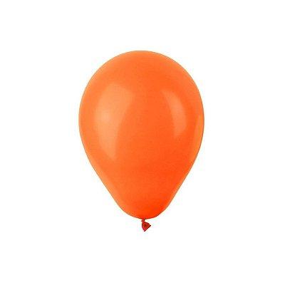 "Balão Bexiga Lisa Laranja 6,5"" 15cm - 20 Unidades"