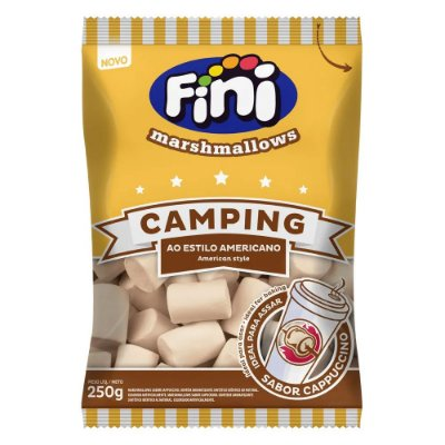 Marshmallow Fini Camping Sabor Cappuccino 250g