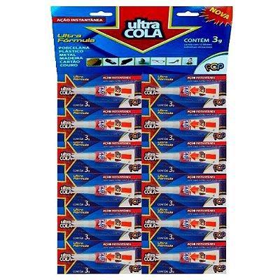 Cola Instantânea Ultra Cola POP 3g - Cartela com 12 Unidades