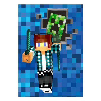 Poster Authentic Games Minecraft 30x43 - 1 Unidade