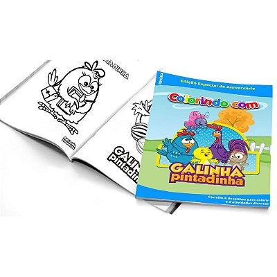 5 Cadernos de Colorir Galinha Pintadinha